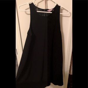 Simple black shift dress with pockets